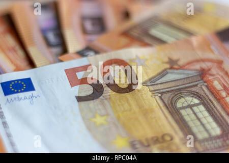 Banknotes of 50 euros