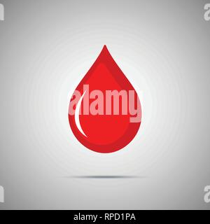 Blood Vector Icon. Red flat drop symbol - Stock Photo