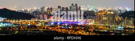 New Taipei City night skyline. Taiwan - Stock Photo