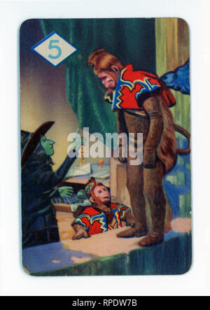 The Wizard of Oz card game produced in London in 1940 by Castell Brothers, Ltd. (Pepys brand) to coincide with the launch of the M.G.M. film in the UK in that year - Stock Photo
