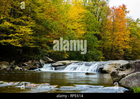 Small waterfall in Vermont during the Fall