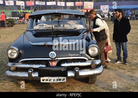 1956 Dodge Kingsway car with 28 hp and 6 cylinder engine. WBE 1362 India. - Stock Photo
