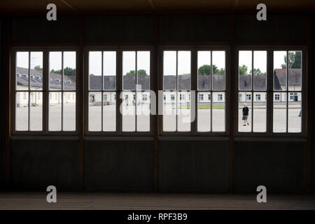 DACHAU - Barracks of the Nazi concentration camp and memorial site Dachau. - Stock Photo