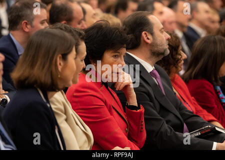 Madrid, Spain. 21st Feb, 2019. Minister of Labor, Migrations and Social Security, Magdalena Valerio attending the act Credit: Jesus Hellin/ZUMA Wire/Alamy Live News - Stock Photo