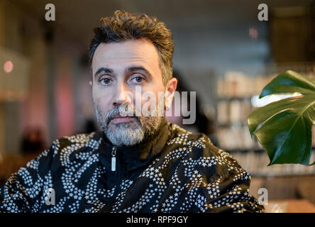 Berlin, Germany. 25th Jan, 2019. The Syrian director Talal Derki. Director Talal Derki comes from Syria and now lives in Germany. With his documentary film about children among Islamists, he hopes to win the most important film prize in the world. Credit: Jens Kalaene/dpa-Zentralbild/dpa/Alamy Live News - Stock Photo
