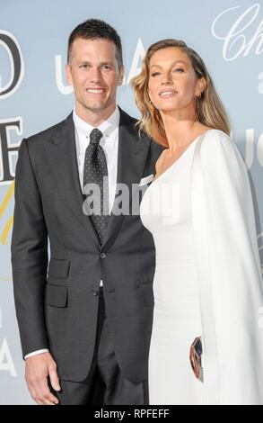 Gisele Bündchen, Tom Brady at arrivals for UCLA Hollywood for Science Gala, Private Residence, Los Angeles, CA February 21, 2019. Photo By: Elizabeth Goodenough/Everett Collection - Stock Photo