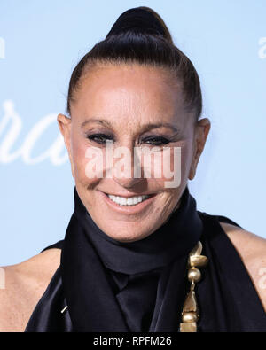 Beverly Hills, United States. 21st Feb, 2019. Fashion designer Donna Karan arrives at the 2019 Hollywood For Science Gala held at a Private Estate on February 21, 2019 in Beverly Hills, Los Angeles, California, United States. (Photo by Xavier Collin/Image Press Agency) Credit: Image Press Agency/Alamy Live News - Stock Photo