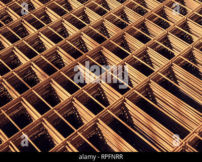 Rusty Metal armature net for building construction
