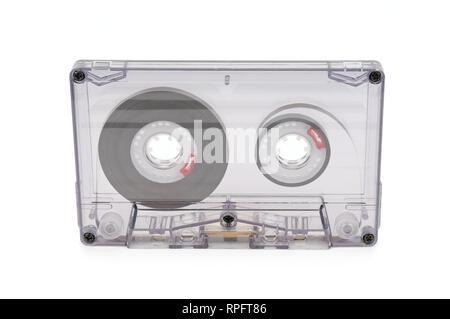 audio tape isolated on white background - Stock Photo
