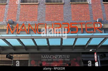 Manchester235 Manch235ter Casino, Great Northern Warehouse, Deansgate, Manchester, England, UK - 2 Watson St, Manchester M3 4LP - Stock Photo