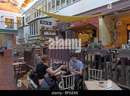 Manchester Craft Village, Oak Street Cafe, Vegetarian and other food in a relaxed environment, England, UK , M4 5JD - Stock Photo