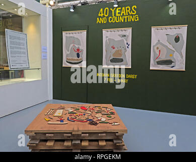 40 Years and Counting, Megham Graydon Darby, Manchester Craft Village, North West England, UK, M4 5JD - Stock Photo