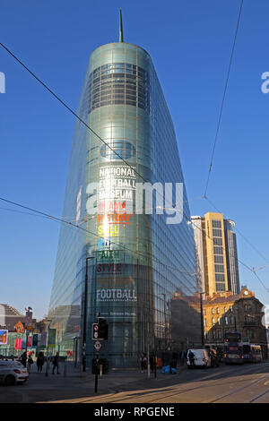 National Football Museum, Urbis Building Cathedral Gardens, Todd St, Manchester, North West England, UK,  M4 3BG - Stock Photo