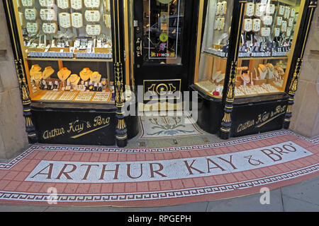 Arthur Kay & Bros, Jewellers Shop, 2 New Market, Manchester, North west england, UK,  M1 1PT - Stock Photo