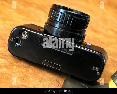 Vintage Collectible Pentax SLR Auto110 Camera. - Stock Photo