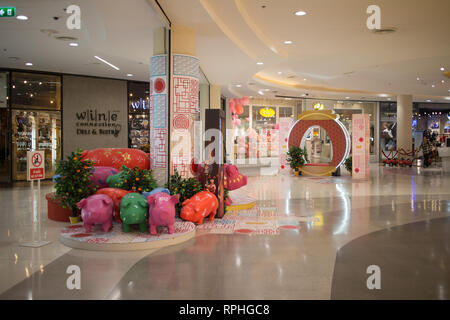 Chiangmai, Thailand - February 21 2019:  Chinese new year theme inside Central Festival Chiang mai. - Stock Photo
