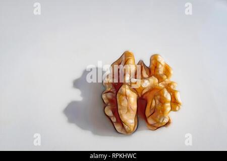 close up ready to eat  walnut - Stock Photo