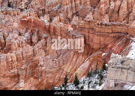 Stone Formations Hoodoo In Bryce Canyon National Park, State Utah, USA - Stock Photo