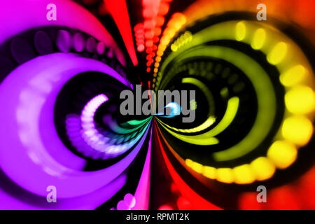 blurred bright lights abstract background - Stock Photo