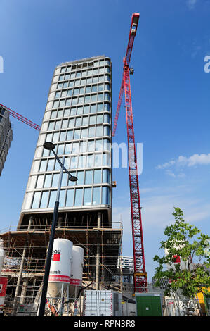 The Park am Belvedere, a hotel and residential complex designed by Italian architect Renzo Piano and currently in the process of being finished - Stock Photo
