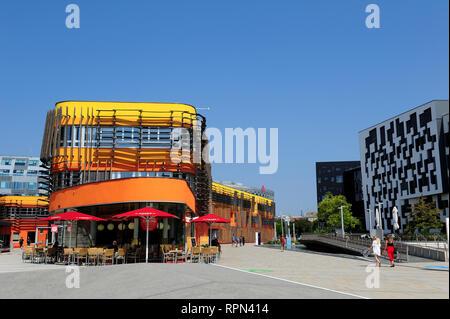 New Campus WU, Vienna University of Economics and Business, Vienna, Austria - Stock Photo