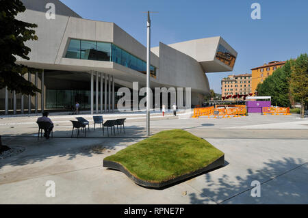 Rome. Italy. MAXXI National Museum of 21st Century Arts (Museo nazionale delle arti del XXI secolo), designed by Zaha Hadid, opened 2010. - Stock Photo