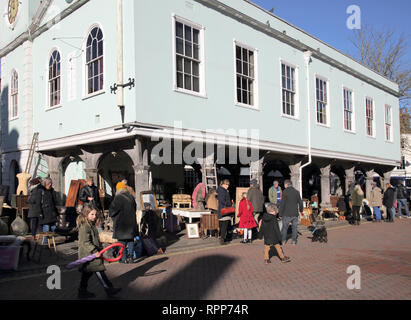 the historic market in faversham kent - Stock Photo