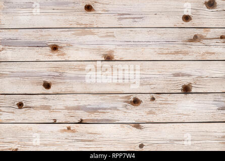 Wooden planks in a horizontal color white pickled finish - Stock Photo