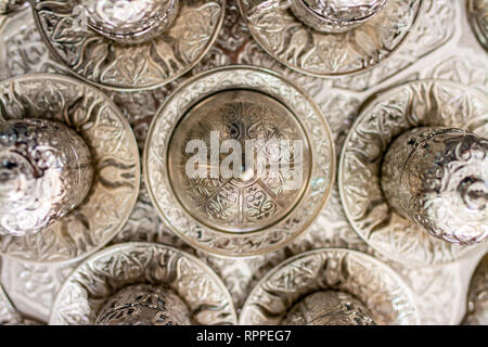Turkish Coffee in ottoman cup. Traditional Coffee Set - Stock Photo