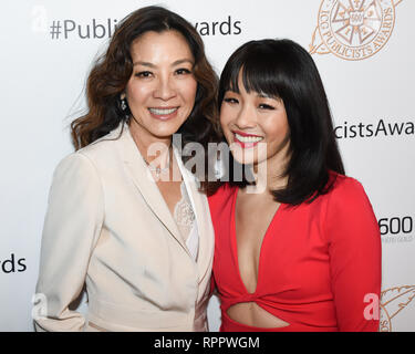MICHELLE YEOH and CONSTANCE WU attends the 56th Annual ICG Publicist Awards at The Beverly Hilton Hotel in Beverly Hills, California. 22nd Feb, 2019. Credit: Billy Bennight/ZUMA Wire/Alamy Live News - Stock Photo