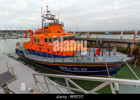 RNLI, Eric and Susan Hiscock, Wanderer, Life Boat, Yarmouth, Isle of Wight, England, UK, - Stock Photo