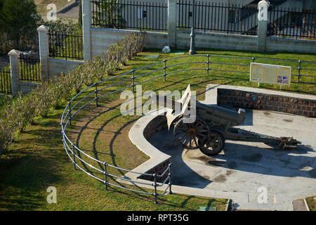 Schneider cannon in la Batería Park. Torremolinos, Málaga, Spain. - Stock Photo