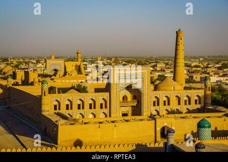 Ancient City Khiva in Uzbekistan, panoramic views - Stock Photo