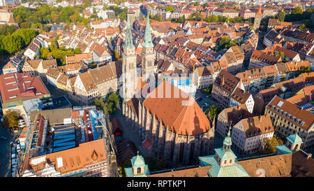 St. Sebald or Sebalduskirche, St. Sebaldus Church, Nuremberg, Germany - Stock Photo