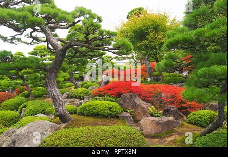 Yuushien Japanese Garden near Sakaiminato, Japan - Stock Photo