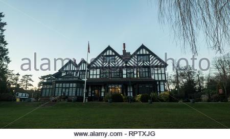 Bhaktivedanta Manor ISKCON site near Watford, England - Stock Photo
