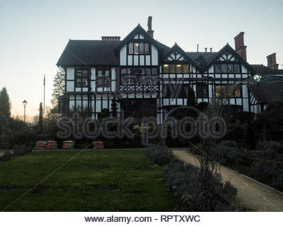 Bhaktivedanta Manor ISKCON site near Watford, England - Stock Photo