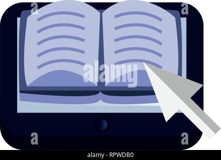tablet ebook online education school vector illustration - Stock Photo