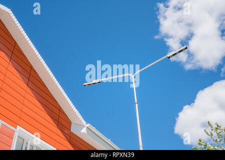 Residential building of modern type. Modern architecture. background - Stock Photo