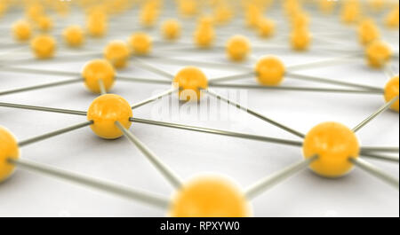 Gold and silver network concept - Stock Photo