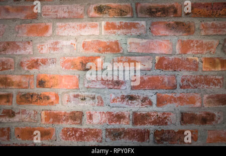 Red brick wall. Nice vintage textured background. - Stock Photo