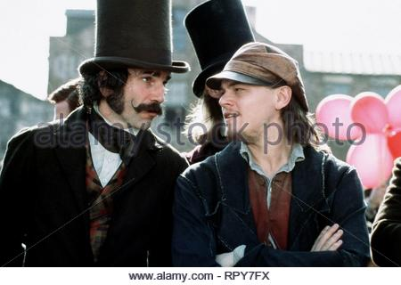 Daniel Day-Lewis & Leonardo Dicaprio Film: Gangs Of New York (USA/IT 2002)  Character(s): Bill 'The Butcher' Cutting & Amsterdam Vallon  Director: Martin Scorsese 09 December 2002  CTR59483 Allstar Picture Library/ALBERTO GRIMALDI PRODUCTIONS  **Warning**  This Photograph is for editorial use only and is the copyright of ALBERTO GRIMALDI PRODUCTIONS  and/or the Photographer assigned by the Film or Production Company & can only be reproduced by publications in conjunction with the promotion of the above Film. A Mandatory Credit To ALBERTO GRIMALDI PRODUCTIONS is required. The Photographer shoul - Stock Photo