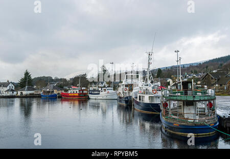 Corpach Harbour Corpach near Fort William Scotland on a cold winter day - Stock Photo