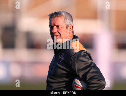 Trailfinders Sports Ground, London, UK. 23rd Feb, 2019. Betfred Super League rugby, London Broncos versus Castleford Tigers; Castleford Tigers Coach Daryl Powell Credit: Action Plus Sports/Alamy Live News - Stock Photo