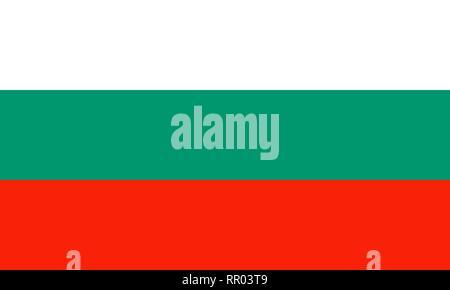 Bulgaria national flag. Vector illustration. Sofia - Stock Photo