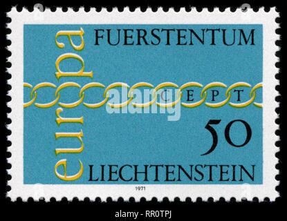 Postage stamp from Liechtenstein in the Europa (C.E.P.T.) 1971 - Chain series - Stock Photo