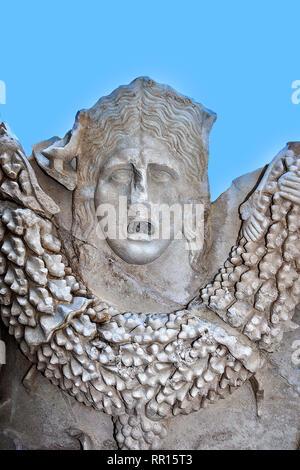Sarcophagus Figure, Side Museum, Side, Turkey - Stock Photo