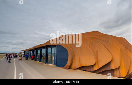 East Beach Cafe on the promenade at Littlehampton, West Sussex, UK - Stock Photo