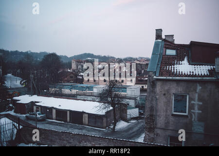 Wide view on the Vilnius old town - Stock Photo