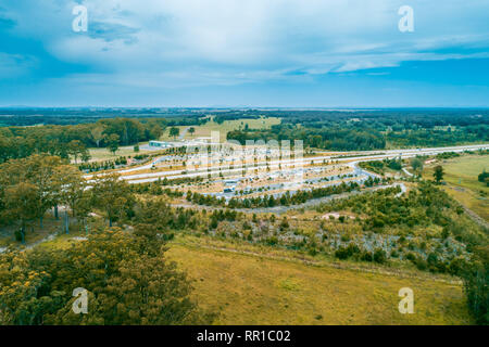 Clybucca Rest Area on Pacific Highway, Collombatti in New South Wales, Australia - Stock Photo